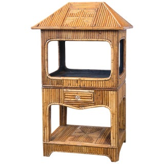 Rattan Etagere or Dry Bar For Sale