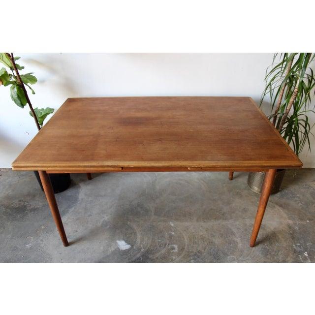 1960's Mid Century Modern Teak Extending Dining Table For Sale - Image 11 of 11
