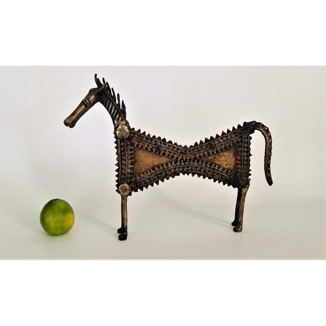 1960s Vintage Brutalist Solid Brass Horse Sculpture For Sale - Image 10 of 13