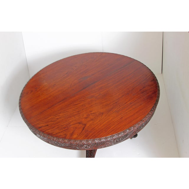 Anglo-Indian Tilt-Top / Centre Table of Mahogany For Sale In Dallas - Image 6 of 13