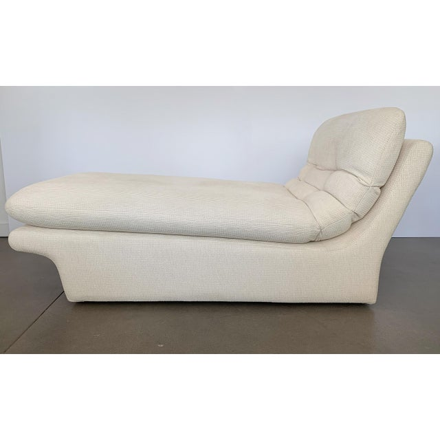 """Designer: Preview USA - Circa 1980s Dimensions: 30"""" H x 63"""" W x 32"""" D Condition: Very Good. Modernist Kagan style chaise..."""