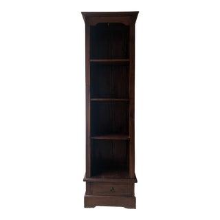 Rustic Tall Mahogany Shelving Unit For Sale