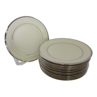 Lenox Solitaire Platinum Band Bread & Butter Plates - Set of 12
