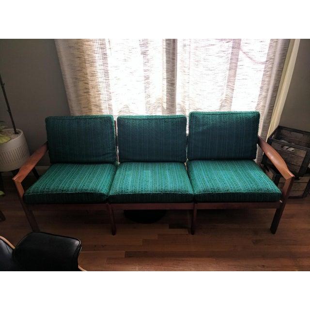 Vintage Modern Danish Teak Parlor Couch - Image 3 of 5
