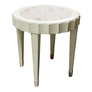 Fremarc Designs Beverly Round End Table For Sale