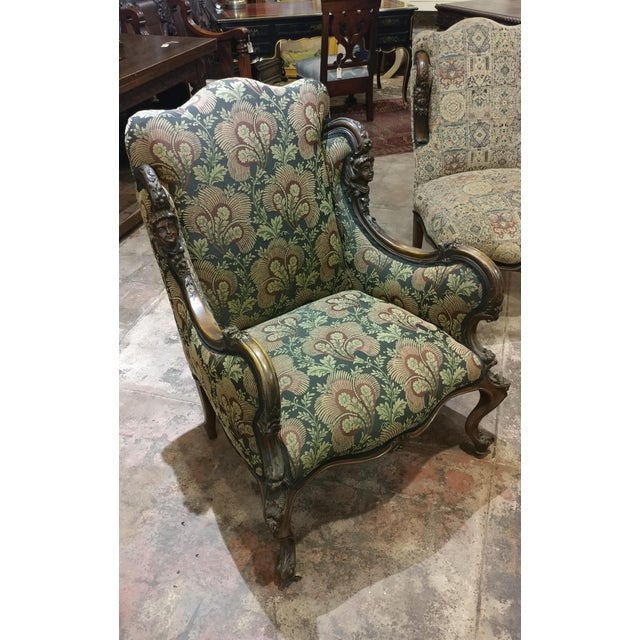 Queen Anne 19th Century Victorian Tapestry Chairs - Set of 2 For Sale - Image 3 of 10