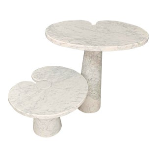 1970s Angelo Mangiarotti Side Tables - Set of 2 For Sale