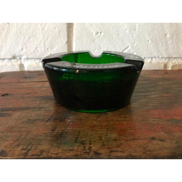 Modern Vintage Chianti Ruffino Pontassieve Green Glass Ashtray For Sale - Image 3 of 7