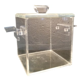 Mid-Century Lucite Atomic Ice Bucket
