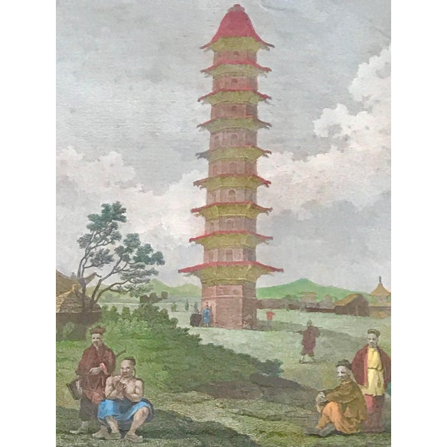 """1980s """"Embassy of China 1796"""" Framed Reproduction Print For Sale In New Orleans - Image 6 of 12"""