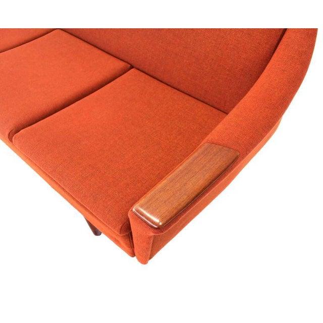 Danish Modern Mid Century Modern Danish Modern Convertible Brick Wool Upholstery Daybed Sofa For Sale - Image 3 of 10