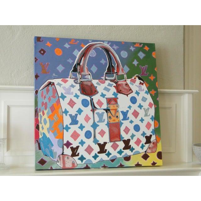 "Steve Kaufman ""Louis Vuitton Bag,"" State II (Multi-Colored) Painting by Steve Kaufman (Sak) For Sale - Image 4 of 11"