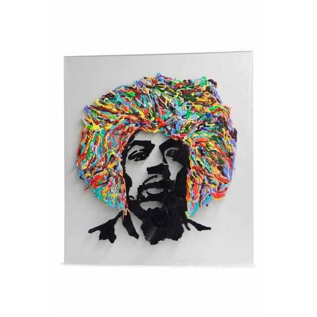 Jimmy Hendrix Portrait on Acrylic For Sale - Image 4 of 4