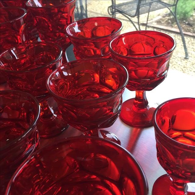Fostoria Red Glasses - Set of 27 - Image 4 of 6
