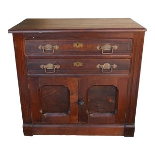 Antique Federal Maple Wash Stand For Sale