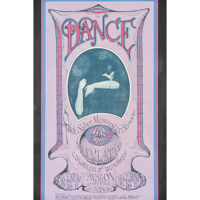 "Art Nouveau Vintage ""The Charlatans"" 1967 Concert Poster For Sale - Image 3 of 10"