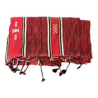 Vintage Boho Woven Wool Blanket Tapestry