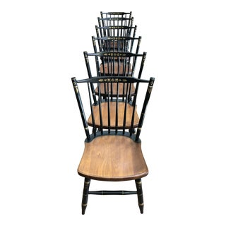 Late 20th Century L. Hitchcock Chairs- Set of 6 For Sale