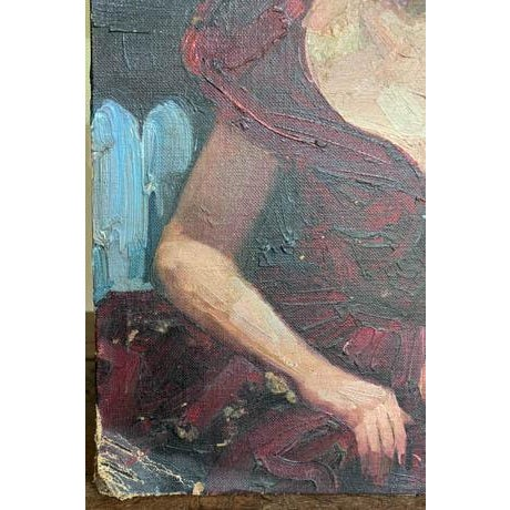 Old, vintage lady paintings are meant to be collected and grouped together for that instant family look. One of many...