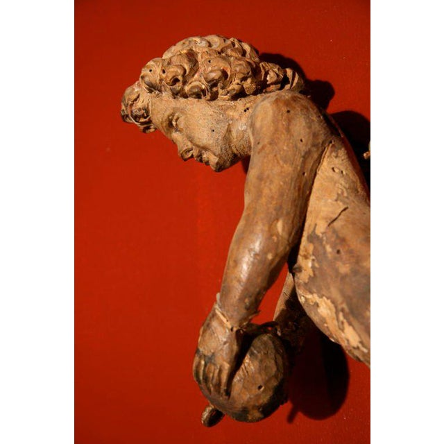 Mid 18th Century Italian Carved Cherub For Sale - Image 5 of 7