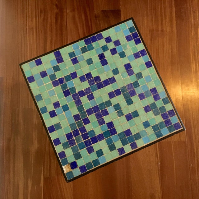 Mid-Century Modern Glass Mosaic Side Table For Sale - Image 4 of 6