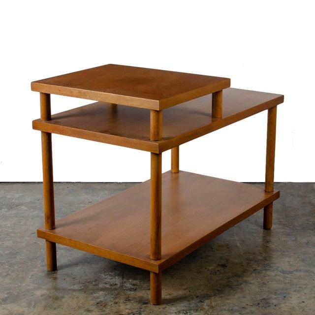1950s t.h. Robsjohn-Gibbings for Widdicomb Step Side Table For Sale - Image 5 of 11