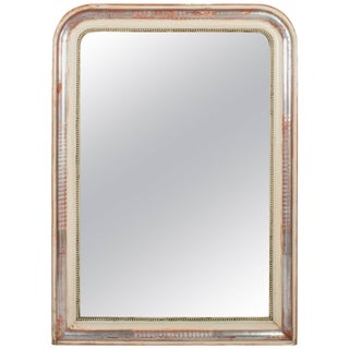 Louis Philippe Silver Leaf Mirror For Sale