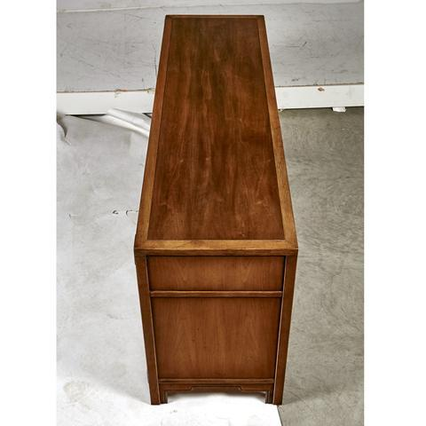 Campaign Compass By Drexel Furniture Campaign Walnut Dresser For Sale    Image 3 Of 9
