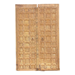 Cross-Hatch British Colonial Palace Doors For Sale
