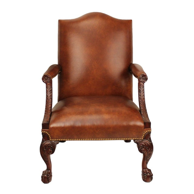Samuel Leather Library Arm Chair - Image 1 of 4