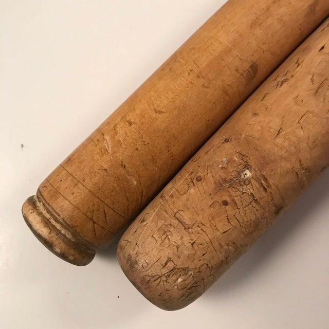 Boho Chic Vintage Wooden Rolling Pins — A Pair For Sale - Image 3 of 8