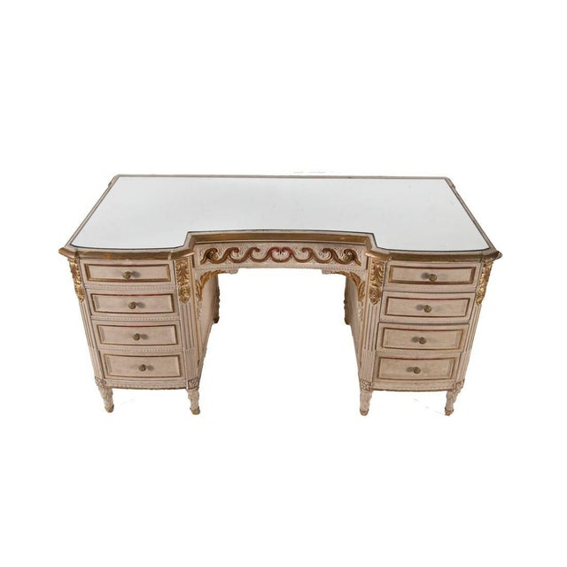 Maison Jansen Louis XVI Style Mirror Top Vanity or Desk - Geraldine Rockefeller Dodge Estate