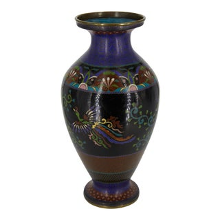 Early 20th Century Japanese Cloisonné Vase For Sale