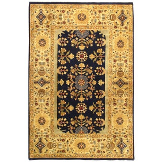 "Pasargad Ny Tabriz Design Silk and Wool Rug - 4' X 5'1"" For Sale"