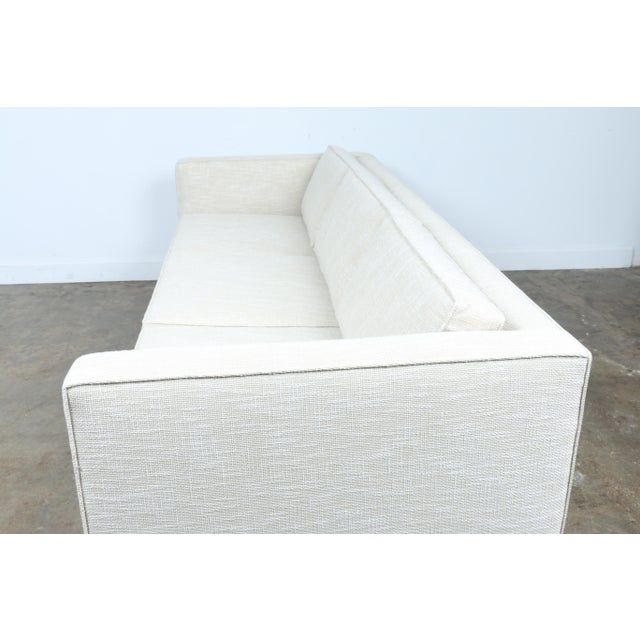 White Mid-Century Sofa With Chrome Legs For Sale In Los Angeles - Image 6 of 11