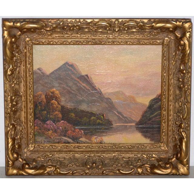 Green Thomas C. Blake Luminous Mountain Landscape Oil Painting C.1920 For Sale - Image 8 of 8