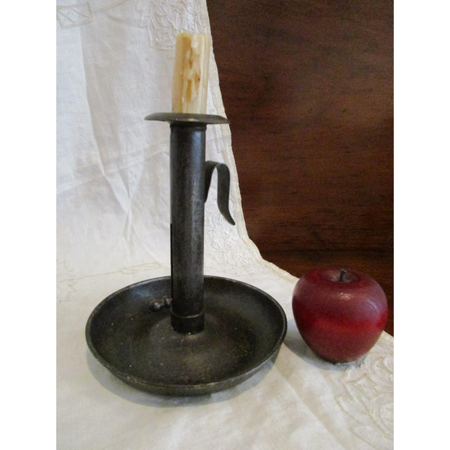 The Antique Push Up Sheet Metal Candlestick was lighting device commonly used in late 18th century and early 19th-century...