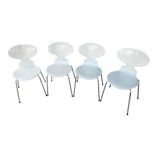 Danish Modern Ant Chairs by Arne Jacobsen for Fritz Hansen - Set of 4 For Sale