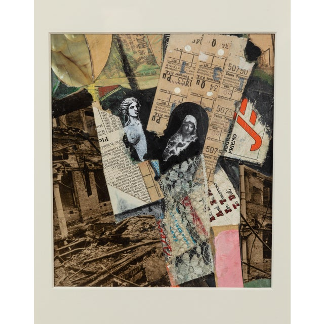 English Mixed-Media Collage For Sale - Image 4 of 5