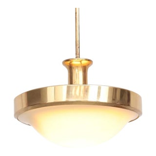 Beautiful Glass and Brass Art Deco Pendant Lamp, Germany, 1920s For Sale