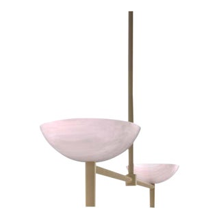Contemporary 200A Pendant in Alabaster and Brushed Brass by Orphan Work, 2020 For Sale