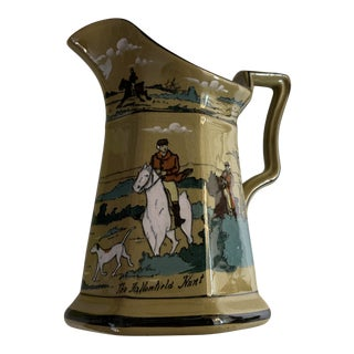 Antique Deldare Buffalo Pottery Pitcher For Sale
