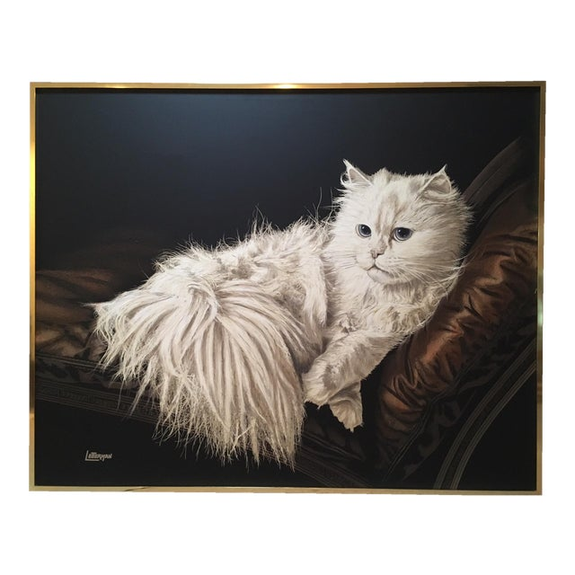 "Antoinette Letterman ""The Resting Cat (Cashmere)"" Giclee Painting For Sale"