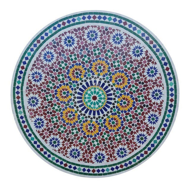 Islamic Moroccan Multi-Color Mosaic Coffee Table For Sale - Image 3 of 7