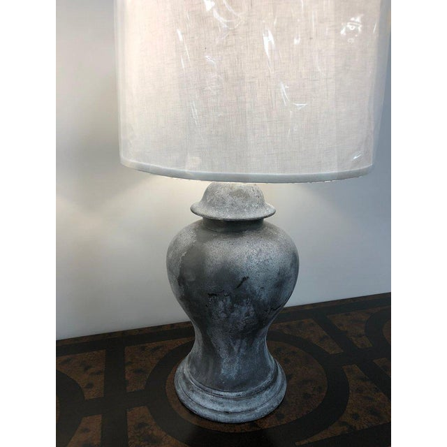 Contemporary Antique English Metal Urn Lamps - a Pair For Sale - Image 3 of 5