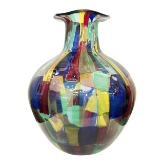 1950s Venini Pezzato Vase by Fulvio Bianconi For Sale
