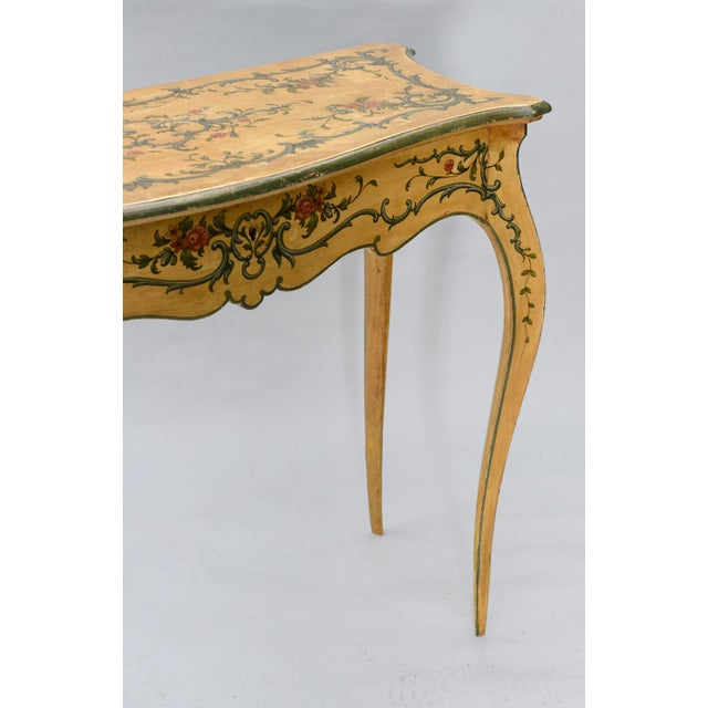 Hand Painted 19th Century Console Table For Sale - Image 4 of 11