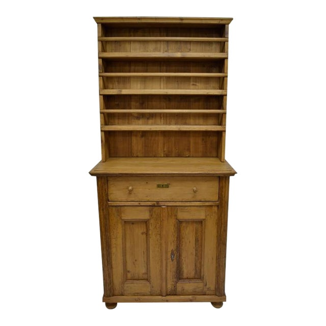 Pine Two-Piece Open Rack Dresser For Sale