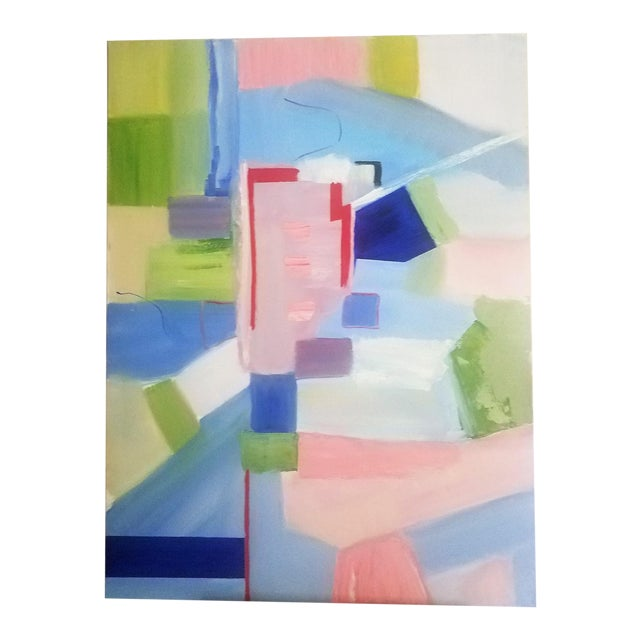 """Abstract Contemporary """"Sloane Square"""" Oil Painting by Christine Frisbee For Sale"""