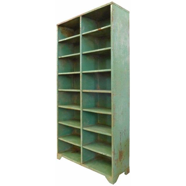 French 1930s French Industrial Shelving Unit For Sale - Image 3 of 5